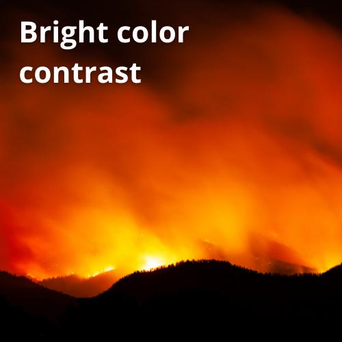 bright color contrast