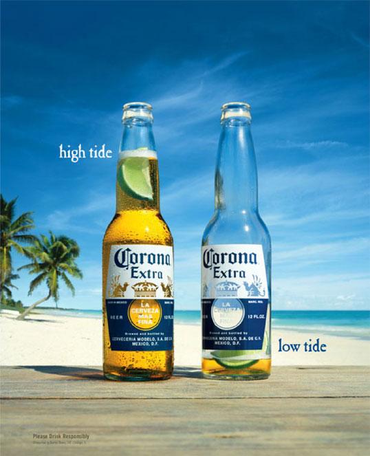 Corona beer advertisement creative elements for sucess