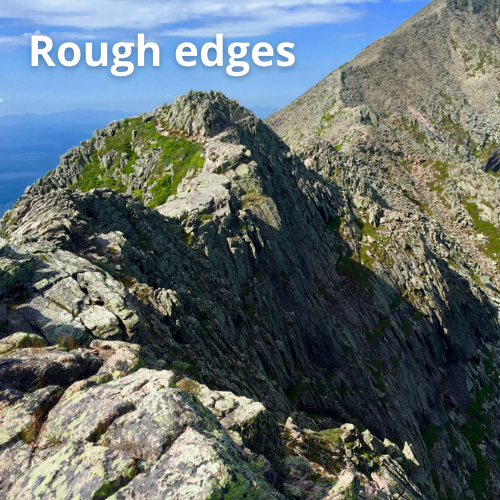 rough edges in a mountain range as an example of a biological salient object